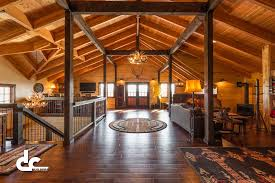 Barn Floor Plans With Loft Workshop With Living Quarters In Daggett Michigan Dc Builders
