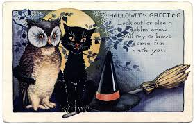 antique halloween background vintage halloween clipart cat clipartsgram com