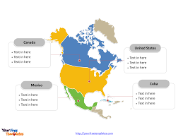 Political Map Of United States And Canada by Free North America Editable Map Free Powerpoint Templates