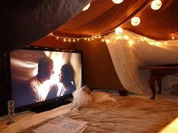 movie theater home the inside of my blanket fort while watching an arrested
