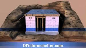 Building A Concrete Block House Concrete Block Diy Storm Shelter 12x20 Foot Youtube