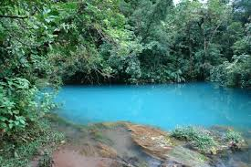 Light blue river