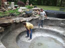koi ponds concrete vs rubber lining u2014 natural stone pools