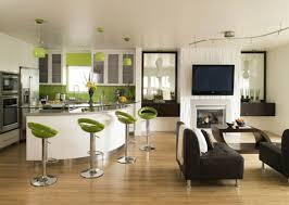 apartment modern interior furniture green bar stool charming