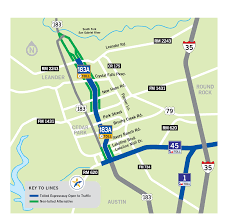 Map Card Austin by 183a Toll Central Texas Regional Mobility Authority
