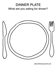 28 dinner plate coloring empty dinner plate colouring