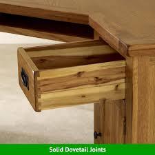 rustic oak corner desk