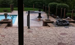 Backyard Cement Patio Ideas by 10 Cool Stamped Concrete Patio Ideas For Your Patio Garden Hgnv Com