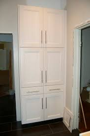 Kitchen Pantry Furniture Mesmerizing White Color Wooden Kitchen Pantry Cabinets Come With