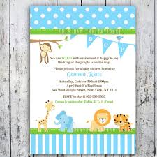 Invitation Cards For Baby Shower Templates Safari Baby Shower Invitations Jungle Animal Theme Printable