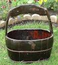 Rustic Maddie Wood Water Bucket - traditional - outdoor decor ...