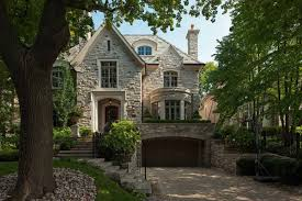 Cottage Style House by Custom Europan Tudor Style Home Design With White Stacked Stone