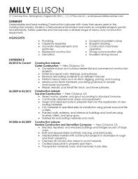 example of skills in resume best construction labor resume example livecareer create my resume