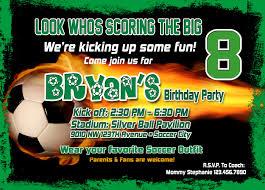 Free Printable Birthday Invitation Cards With Photo Free Printable Birthday Invitations Soccer