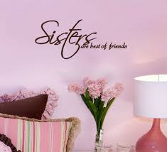 online get cheap wall decal sisters aliexpress com alibaba group sisters friends wall decals vinyl stickers home decor living room wall pictures bedroom wallpaper girls room