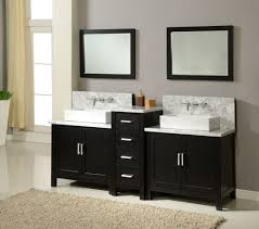 Beige And Black Bathroom Ideas Black Vanity And Perfect Double Sink Design For Edgy Bathroom