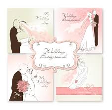 Editable Wedding Invitation Cards Free Background Vector Image Set