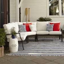 Patio Furniture From Walmart - exterior dark sectional wicker sofa with white sunbrella