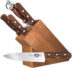 victorinox forschner 7 piece block set rosewood handles
