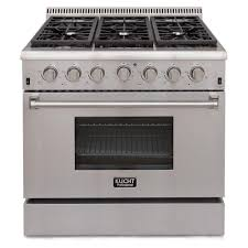 thor kitchen 48 in 6 7 cu ft professional gas range in