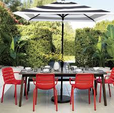 Patio Umbrella Side Table by Patio Furniture And Decor Trend Bold Black And White