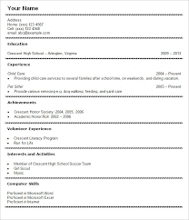 Student Resume Examples First Job by First Job Resume Student Resume Examples Resume For High