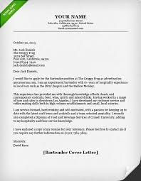 Example Of Email With Resume Attached by Bartender Cover Letter Resume Genius