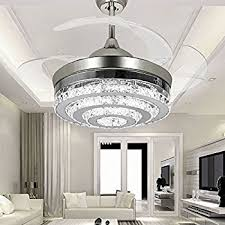 Dining Room Ceiling Fan by Colorled Ceiling Flush Mounted Light Kit Crystal Silver Drawing