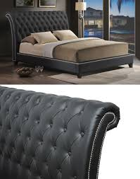 beautiful jazmin tufted modern bed with upholstered headboard 18
