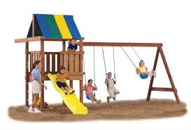 Cedar Playsets Exterior Small Swing Sets Clearance Ideas For Your Outdoor