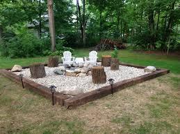Best  Rock Fire Pits Ideas On Pinterest Backyard Pool - Backyard river design