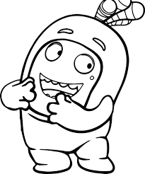 oddbods coloring page wecoloringpage