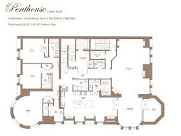 Penthouse Floor Plans Behold The Floorplan For Back Bay U0027s Fanciest New Penthouse