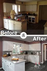 Kitchen Cabinet Refacing Before And After Photos 194 Best Kitchen Transformations Images On Pinterest Kitchen