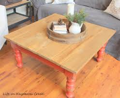 rustic coffee table makeover life on kaydeross creek