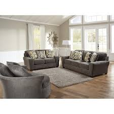 Dining Living Room Furniture Sax Living Room Sofa U0026 Loveseat Grey 32970 Living Room