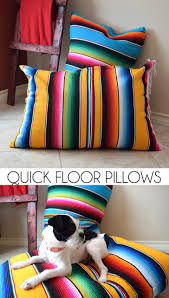 Knitted Cushions With Buttons Quick Floor Pillows Tutorial Dream A Little Bigger