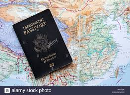 The Map Of The United States Of America by Diplomatic Passport Of The United States Of America On A Map Of