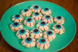 easy to make halloween eyeball cookies recipe