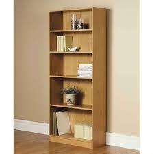 4 Shelf Bookcase White by Orion Wide 5 Shelf Standard Bookcase Multiple Finishes Walmart Com