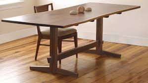 a fresh take on the trestle table finewoodworking