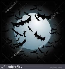 scary moon background bats flying full moon illustration