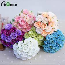 2017 bouquet diy home decor party office decorative rose flowers