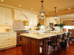 Kitchen Island Lamps Elegant Kitchen Island With Special Vintage Pendant Lamps For