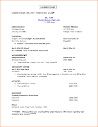 student resume format for campus interview 8 college student resume example budget template letter comsample resumes sample resume