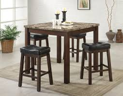 Counter Height Vanity Stool Sofie 5 Piece Marble Look Counter Height Dining Set Lowest Price