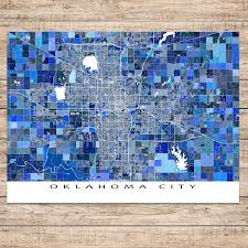 Oklahoma City Map Oklahoma City Map Print Oklahoma Usa U2013 Maps As Art