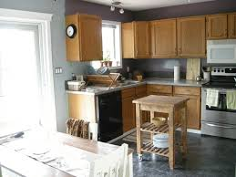 Gray Floors What Color Walls by Gray Wall Color Plus Light Brown Wooden Kitchen Cabinet And Gray