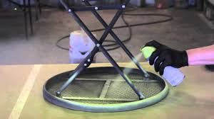 how to paint metal lawn furniture furniture restoration youtube
