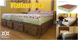 King Platform Bed Frame With Drawers Plans by How To Build A King Size Bed With Extra Storage Underneath Free